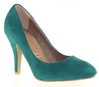 Бирюзовые женские весенние туфли