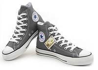 Кеды Converse All Star Chuck Taylor High, мужские кеды конверсы ол стар высокие серые