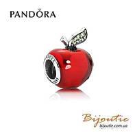 Pandora Disney шарм ЯБЛОКО БЕЛОСНЕЖКИ 791572EN73 серебро 925 Пандора оригинал