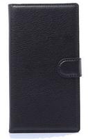 Кожаный чехол-книжка для Lenovo A319 черный