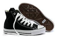 Мужские кеды Converse Chuck Taylor All Star (конверс) высокие черно-белые