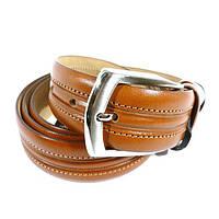 Ремень кожаный мужской под джинсы коричневый Tony Bellucci 1451 Турция