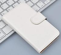 Кожаный чехол-книжка для Lenovo A319 белый