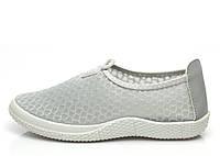 Женская кроссовки, кеды на лето, серого цвета