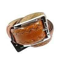 Ремень кожаный мужской под джинсы коричневый Tony Bellucci 1465 Турция