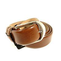 Ремень кожаный мужской под джинсы коричневый Tony Bellucci 1300 Турция