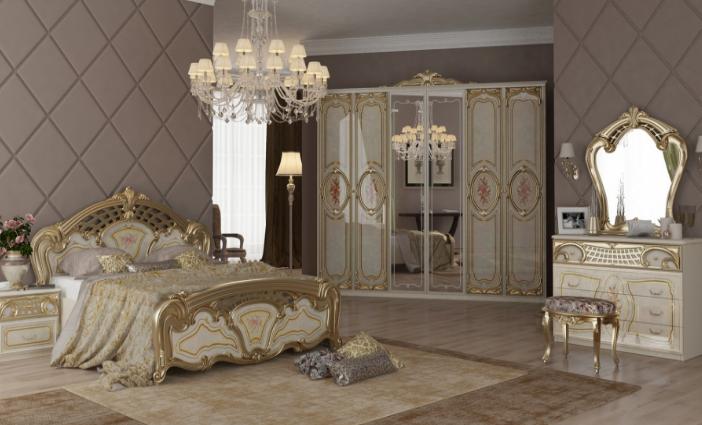 Спальня Реджина Голд 3Д  Миромарк
