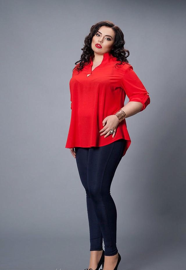 Красная женская блуза