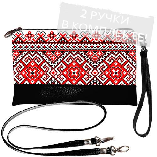 Женская сумочка клатч в украинском стиле этно