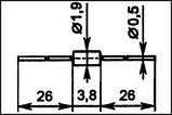Д9Ж выпрямительный диод германиевый (0,15A 100V) , фото 2