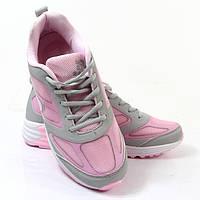 Женские весенние кроссовки серо-розового цвета! Мега удобные!