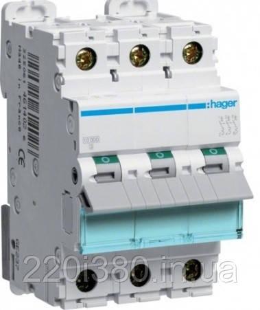 Автоматический выкл. 25А 3р, С, 6кА, MC340A HAGER