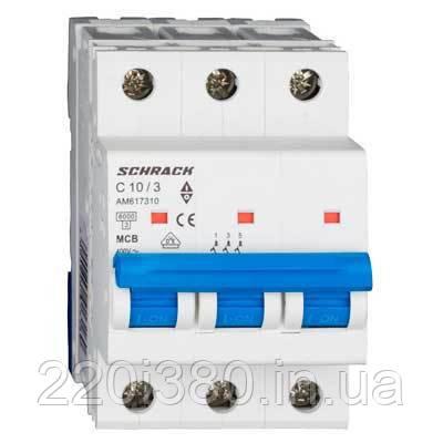 Автоматический выкл. 6кА 3Р 6А х-ка C Schrack
