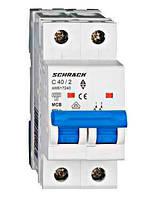 Автоматический выкл. 6кА 2Р 50А х-ка C Schrack