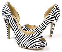 Елегантные туфли на каблуке с зебровым принтом. Очень стильные!