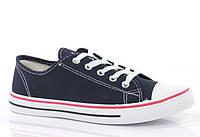 Стильные и удобные Женская спортивная обувь, кеды, конверсы, высокие, классические и низкие  синего цвета!