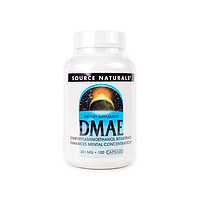 DMAE (диметиламиноэтанол) 351 мг, Source Naturals, 100 капсул