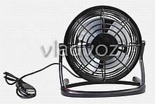 Вентилятор настольный USB для ноутбука ПК или в авто чёрный 816, фото 3