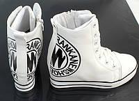 Белые, модные сникерсы, ботинки женские 39