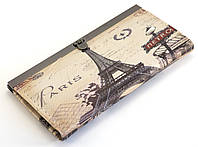 Стильный, удобный женский кошелек с изображением Ейфилевой башни на защелке Lida, фото 1
