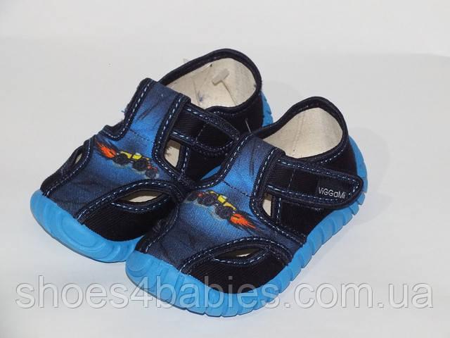 Детские тапочки для мальчиков р.23-30 Tubis Польша (мокасины, текстильная обувь)