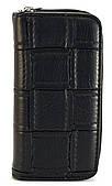 Черный горизонтальный вместительный женский кошелек на молнии Б/Н art. Б/Н барсетка
