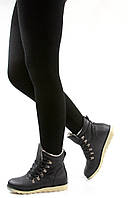 Теплые и удобные ботинки на ребристой подошве TAMELA black