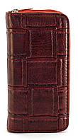 Бордовый горизонтальный удобный женский кошелек на молнии Б/Н art. Б/Н барсетка