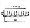 Радиаторный профиль для светодиодов 92х26 / б.п.