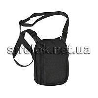 Сумка с кобурой синтетическая поясная/плечевая A-line А14, черная
