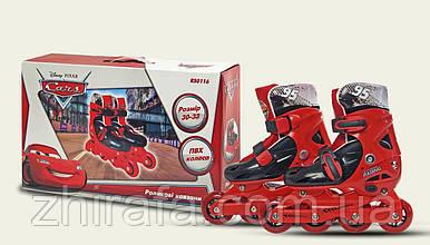 Роликовые коньки Disney Сars S (30-33) c пластиковой рамой (RS0116)