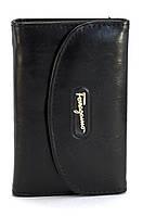 Черный удобный горизонтальный женский кошелек на кнопке Б/Н art. 350