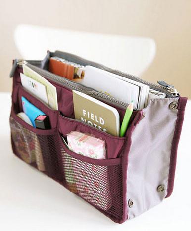Bag in Bag - органайзер в сумку.  Бордовый