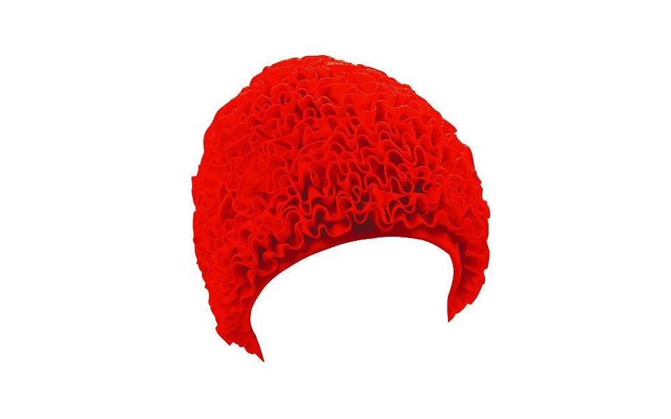 Женская шапочка для плавания BECO красный 7611 5