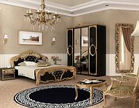 Спальня Реджина Черная (Глянец - Золото)  Миромарк