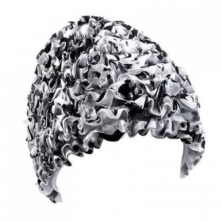 Женская шапочка для плавания BECO белый/чёрный 7612 10, фото 2