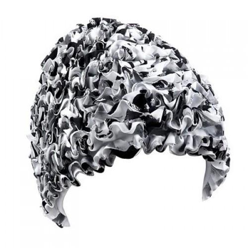 Женская шапочка для плавания BECO белый/чёрный 7612 10