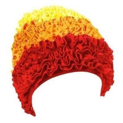 Женская шапочка для плавания BECO жёлтый/оранжевый/красный 7612 2