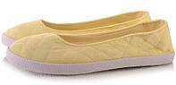 Летняя женская обувь,балетки, туфли, туфли, на плоской подошве от производителя  летние желтого цвета