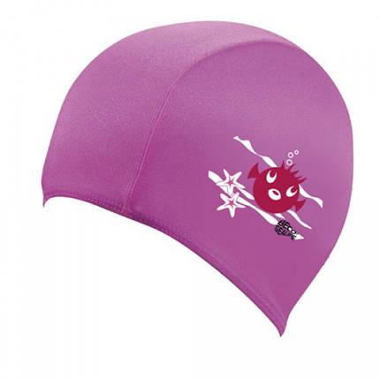 Детская тканевая шапочка для плавания BECO розовый 7703 4, фото 2