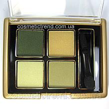 Тени для век 4 цвета Ja-De (GA-DE) Soft Satin Eyeshadow Pallete 13 Emerald (Оригинал)