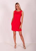Женское красное короткое платье ZEAN 7226