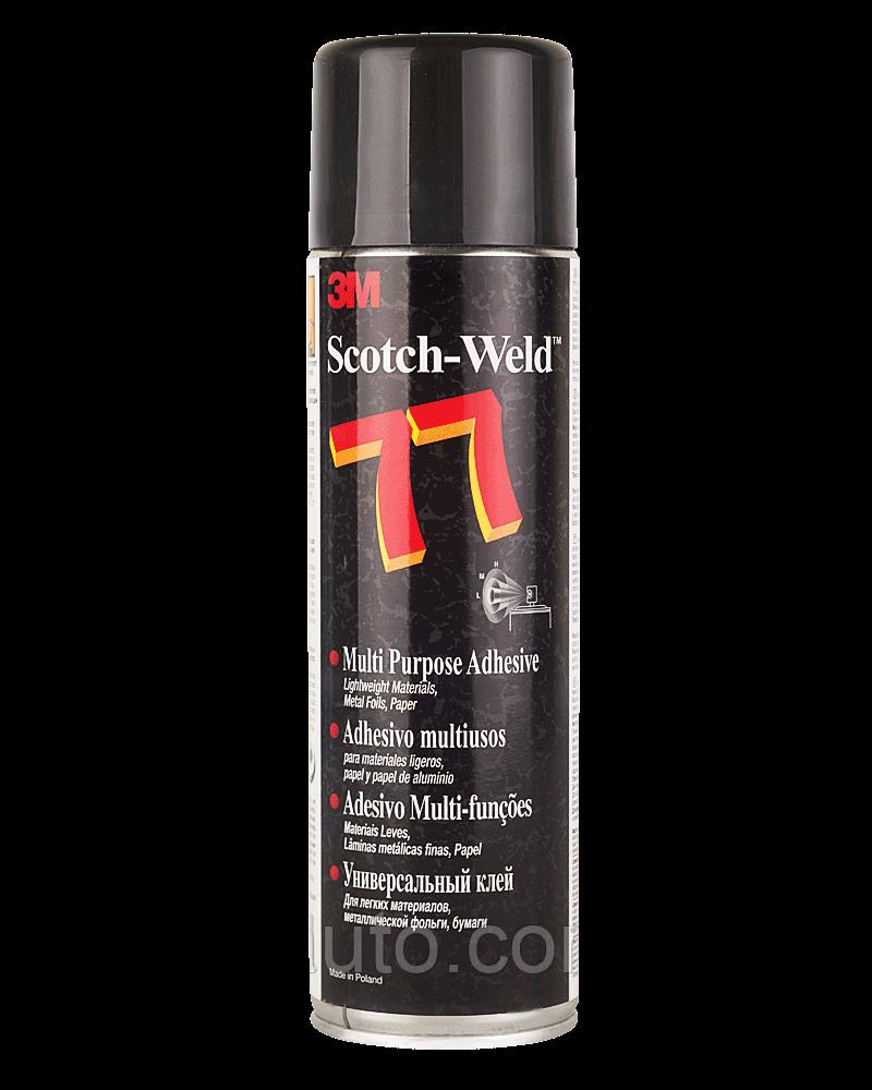 Аерозольний Клей Спрей 3M Scotch-Weld™ Super 77 для Фольги Тканини Поролону Шкіри, Пластику, Гуми Плівки 500мл