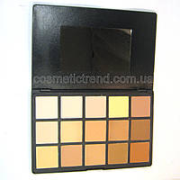 Палитра сухих компакткорректоров/консиллеров для макияжа (15 матовых оттенков) Naked5 15 Color Trimming Powder