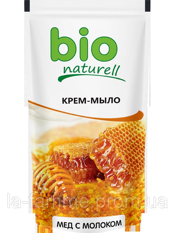 """Жидкое мыло """"Мед с молоком"""" 500мл дой-пак  Bio naturell"""