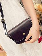 Женская сумка клатч коричневого цвета