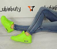 Женская кроссовки, кеды спортивные, салатового цвета