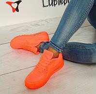 Женская кроссовки, кеды оранжевого цвета  размер 37-39