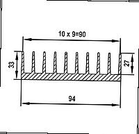 Радиаторный профиль для охлаждения 94х33 / без покрытия.
