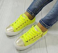 Женская спортивная обувь, кеды желтого цвета  размеры 36-41